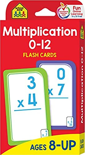 School Zone – Multiplication 0-12 Flash Cards – Ages 8+, 3rd Grade, 4th Grade, Elementary Math, Multiplication Facts, Common Core, and More